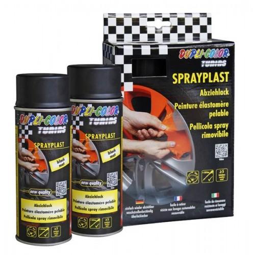 Sprayplast Μαύρο γυαλιστερό σατινέ σετ 2 Χ σπρέι 400ml
