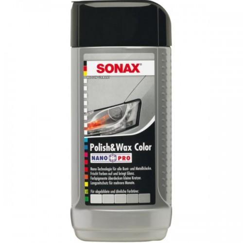SONAX Γυαλιστικό & Κερί με χρώμα ασημί/γκρι Nano 250ml